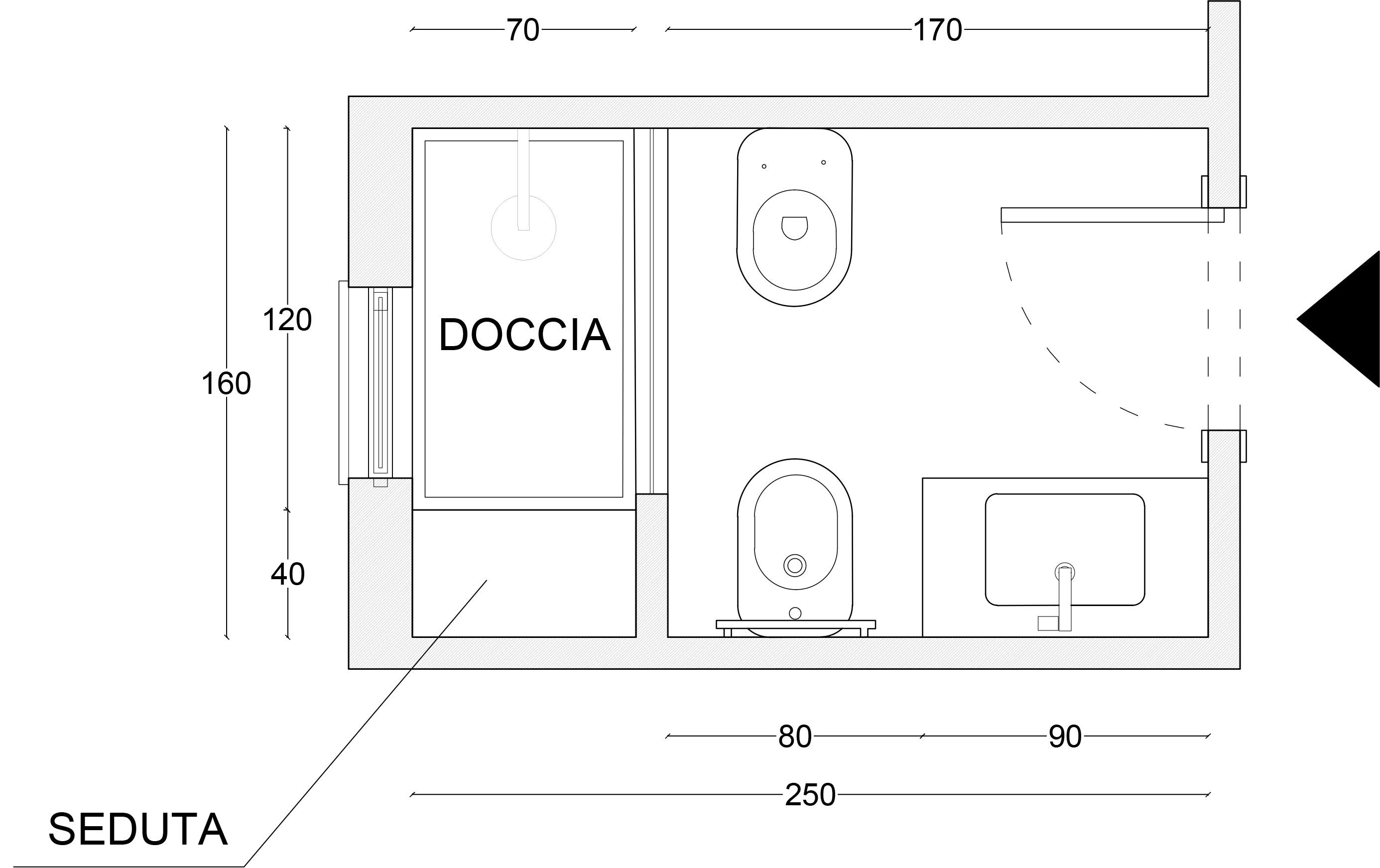 Tre semplici regole per progettare al meglio un bagno di piccole dimensioni tramezzo design - Bagno piccole dimensioni ...