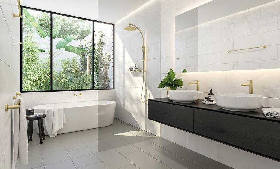 Tramezzo design - Bagno lavabo